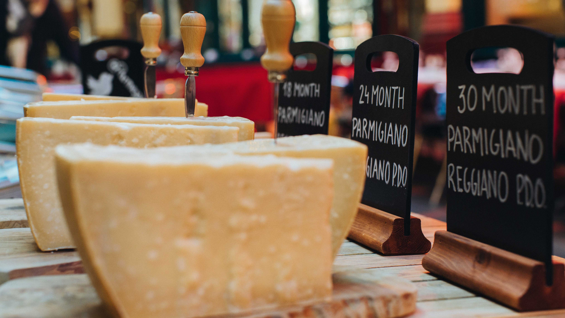 Different maturations of Parmigiano