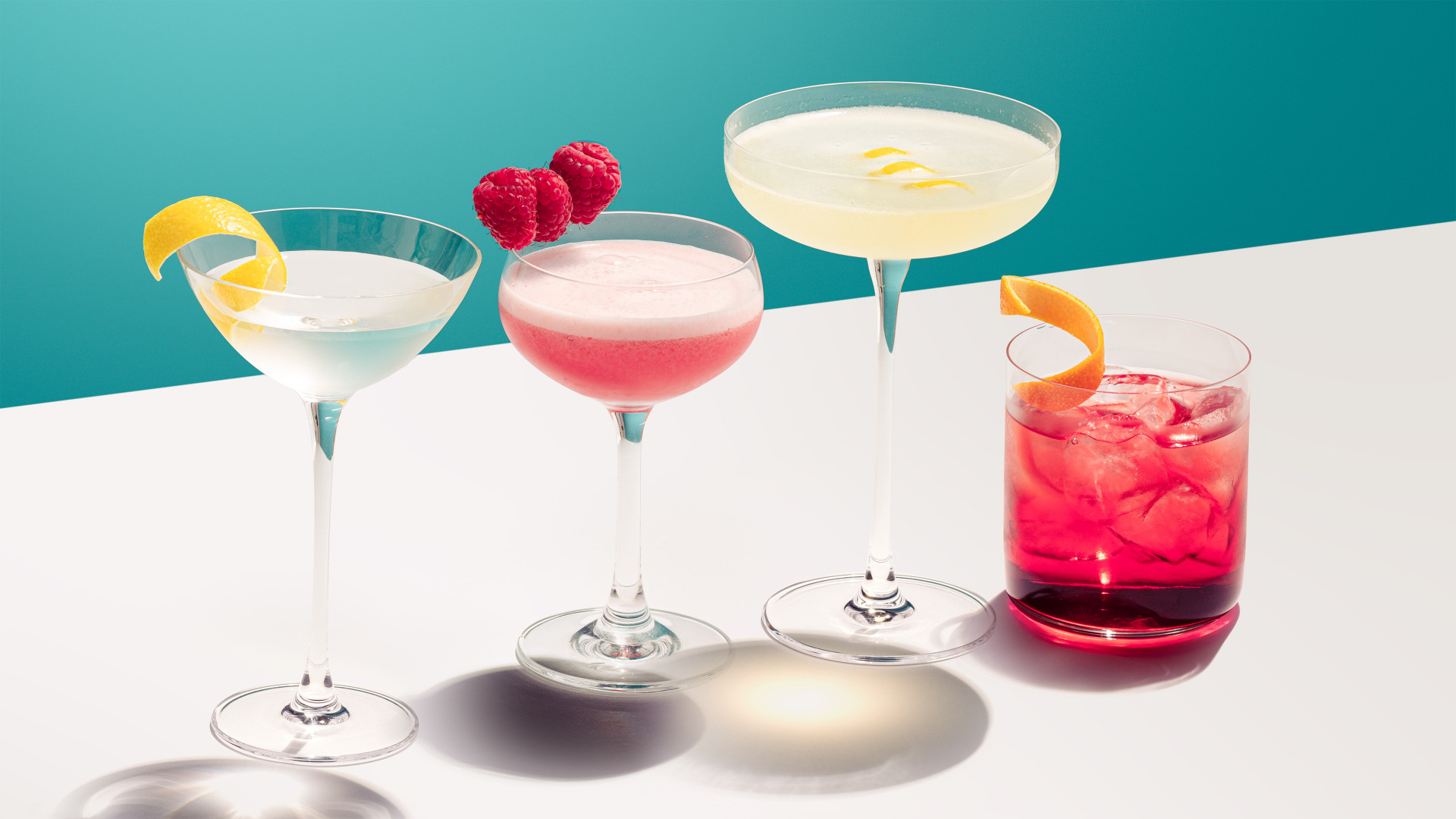 A selection of No.3 Gin cocktails