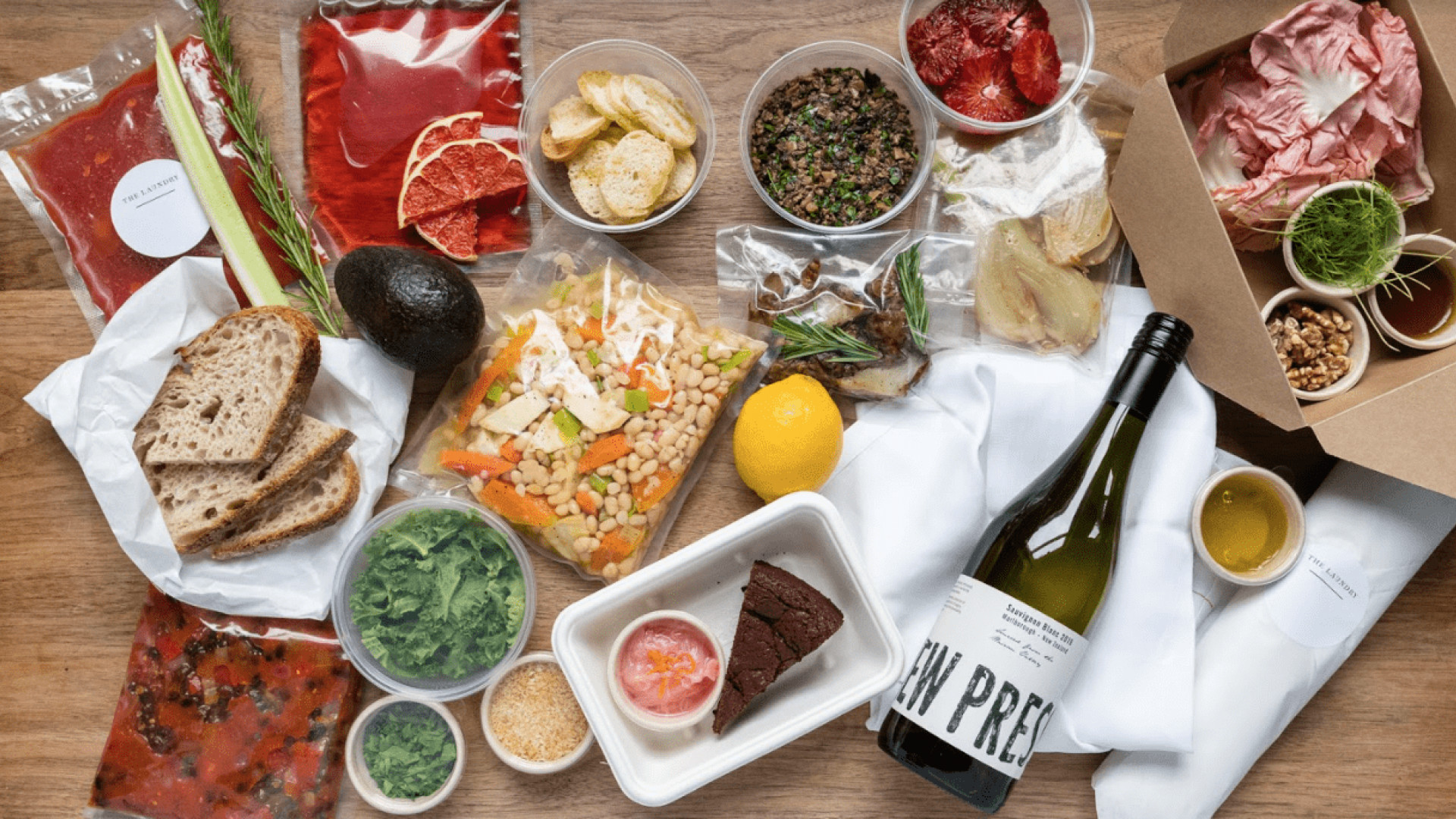 Restaurant meal kits: The Laundry's three-course dinner