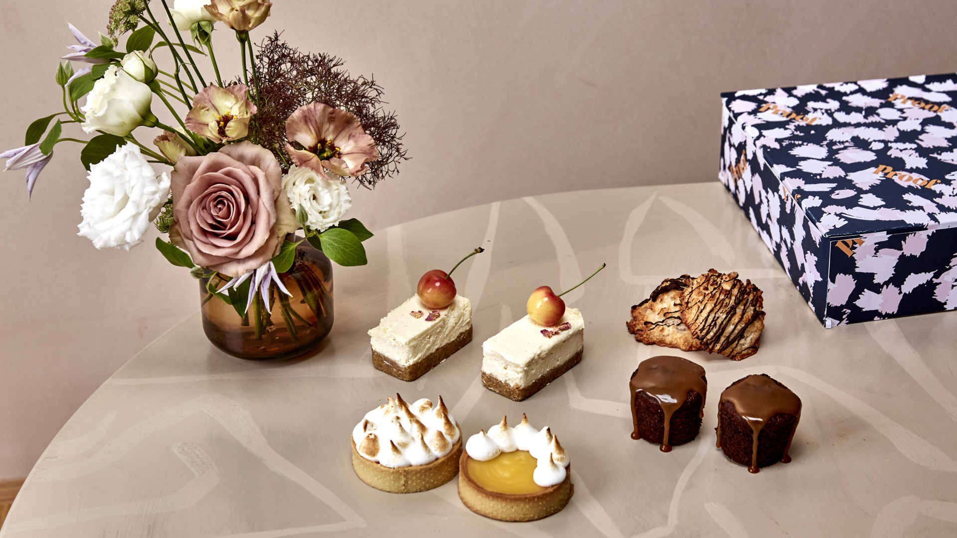 Dessert delivery London: The Proof's smaller cakes