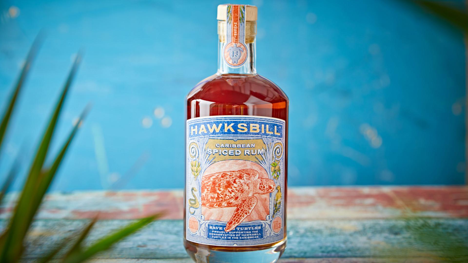 Hawksbill rum bottle