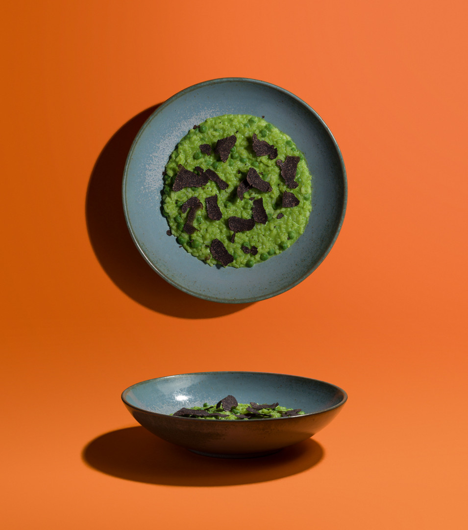Ben Tish's Pea and truffle risotto
