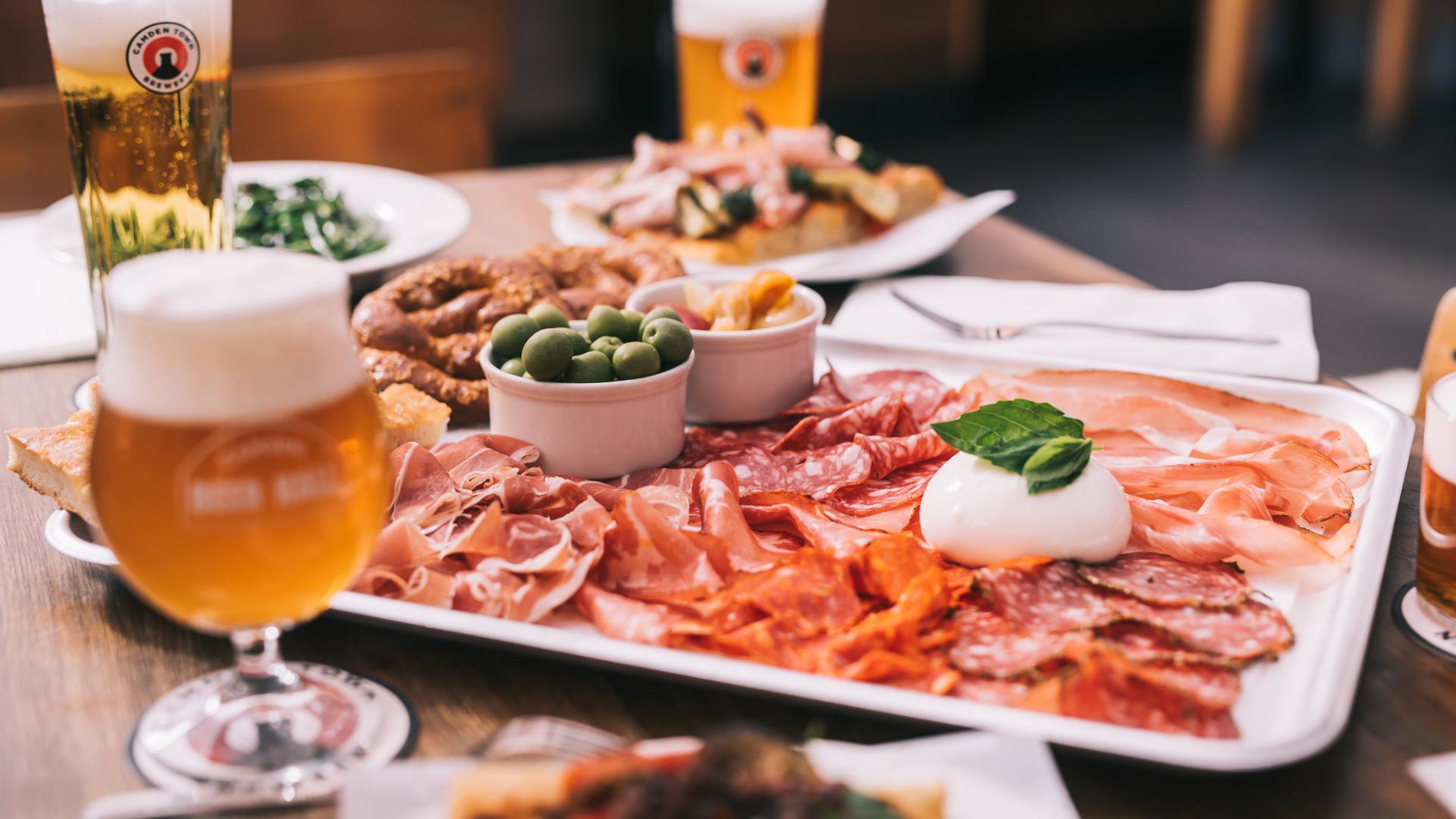 New London openings: Camden Brewery's Beer Hall platter to share