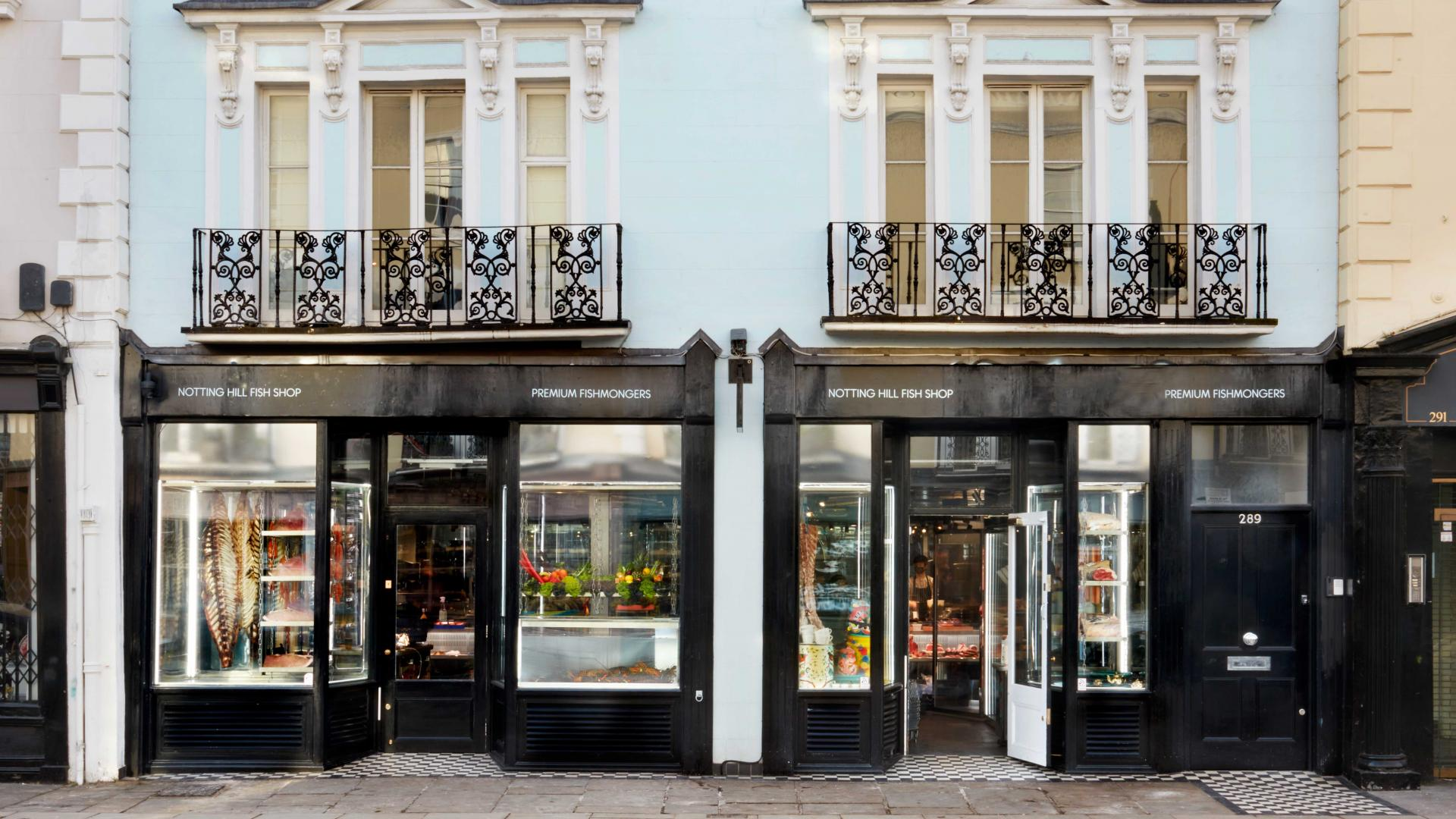 Best butchers London: the exterior Notting Hill Fish + Meat