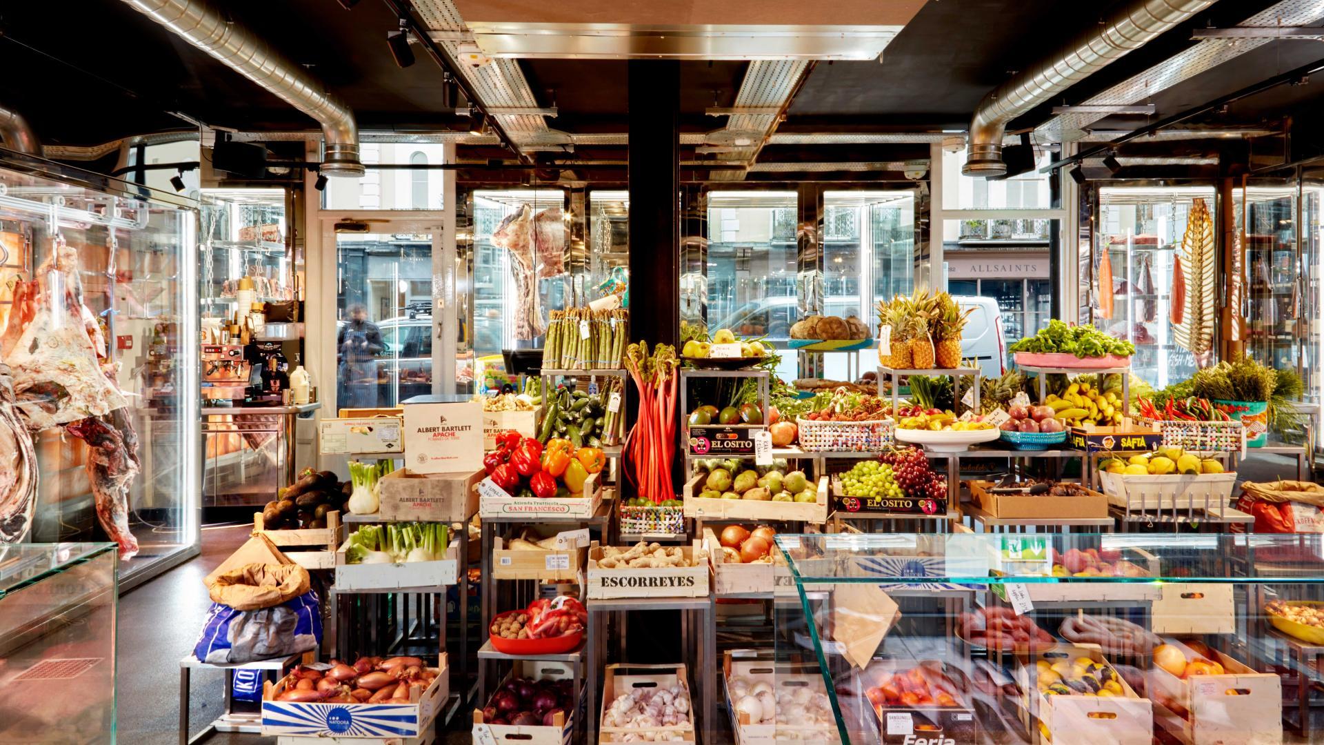 Best butchers London: fresh veg at Notting Hill Fish + Meat