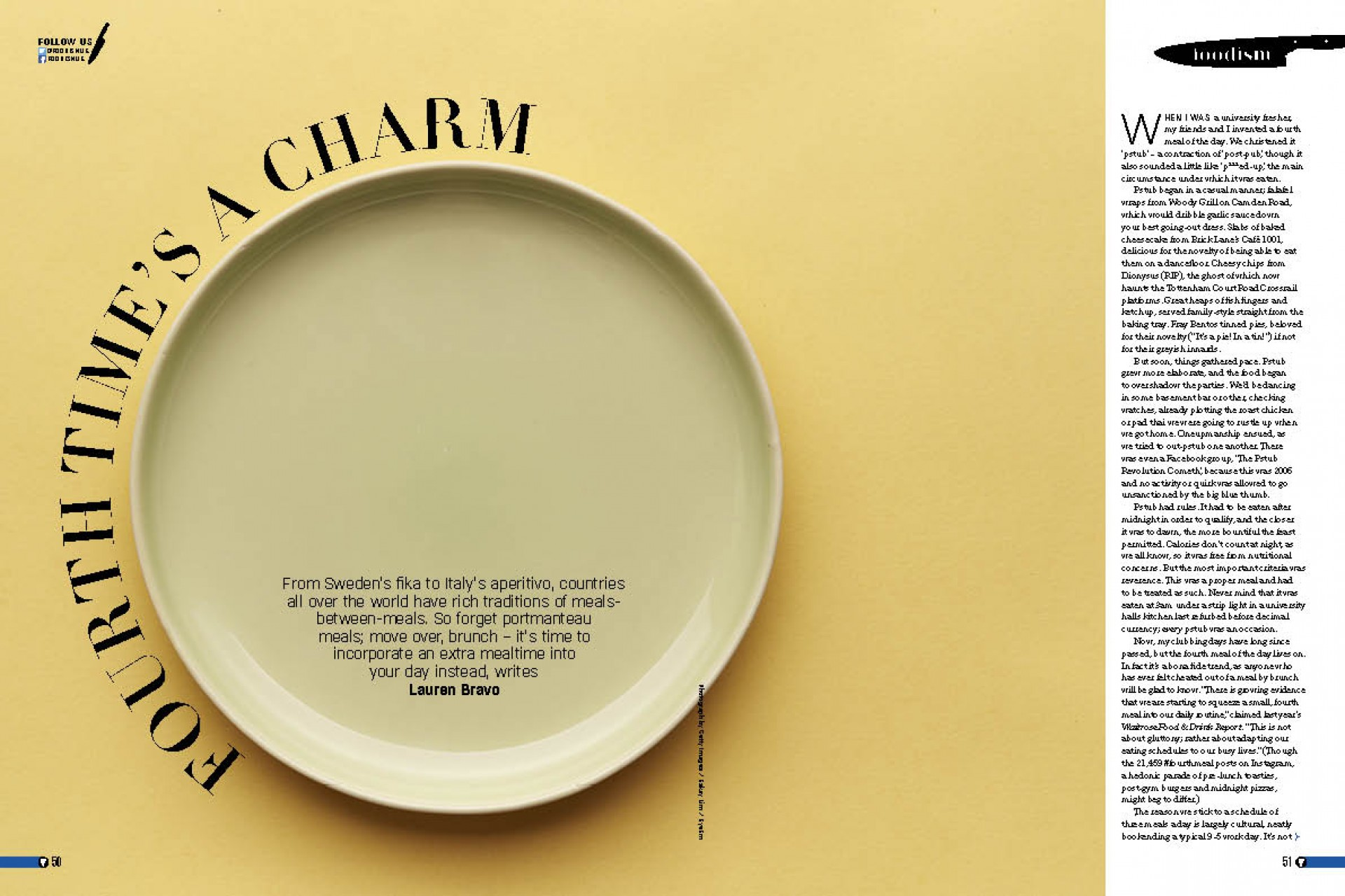 Foodism issue 36: the fourth meal of the day