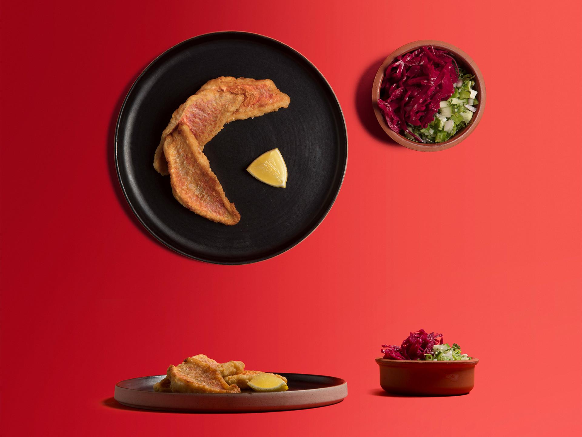 Selin Kiazim's Crispy fried red mullet