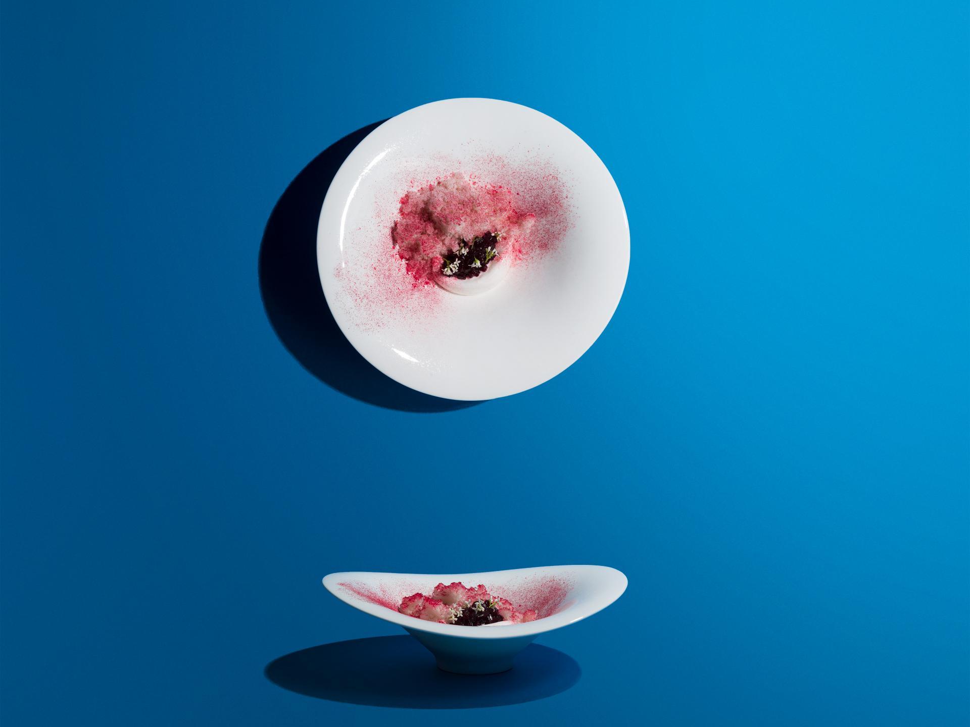 James Knappett, Kitchen Table, Beetroot, woodruff, milk ice cream