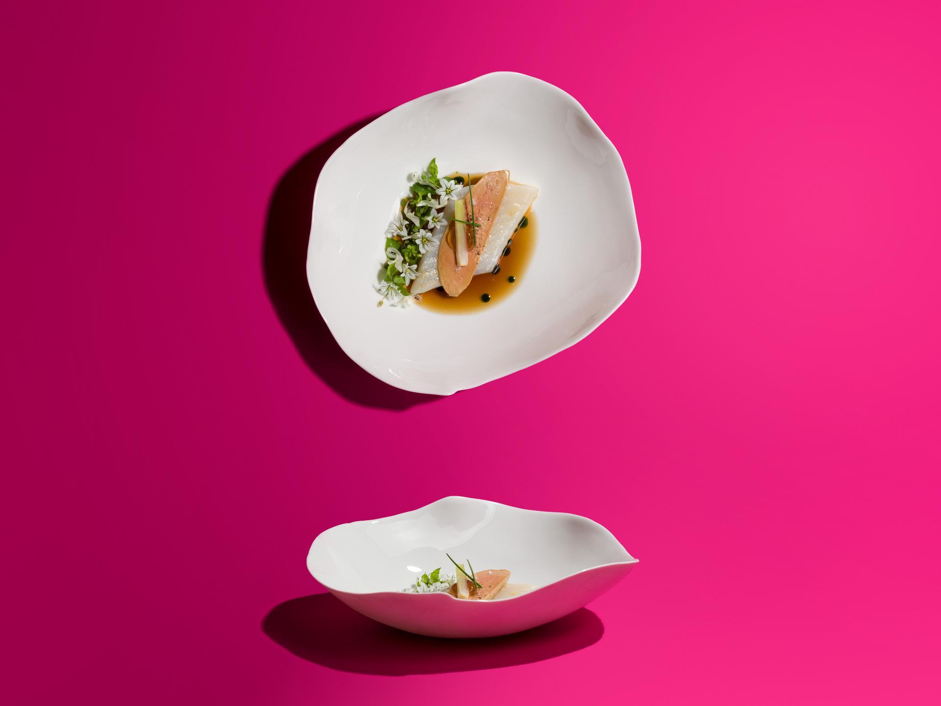 James Knappett, Kitchen Table, Turbot foie gras, onion