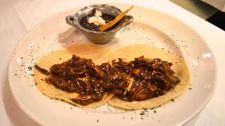 Meat tacos at Mestizo