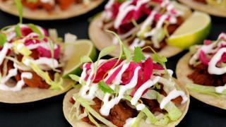 Tofu tacos at Club Mexicana at Pamela in Dalston