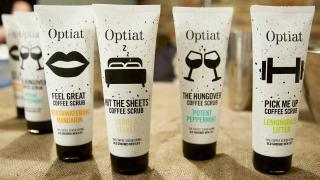 Optiat takes excess arabica from London's finest cafés, bars and restaurants and turn them into body scrubs