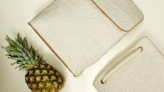 Ananas Anam's bags are made out of pinapple leaves and are designed and made by Smith Matthias