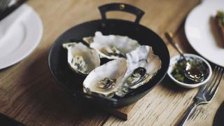 Oysters at Brat in Shoreditch