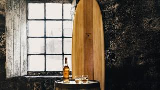 Glenmorangie's Beyond the Cask surfboard, creation in collaboration with Grain Surfboards