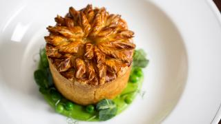 Chicken, girolle, and tarragon pie at Holborn Dining Room