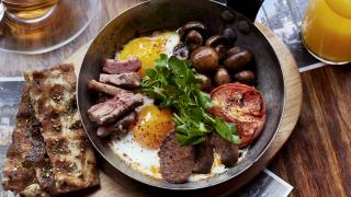 A selection of breakfast dishes at Arabica in London Bridge