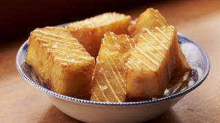 Confit potatoes at Quality Chop House