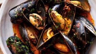 Nduja mussels at 10 Heddon Street in Mayfair