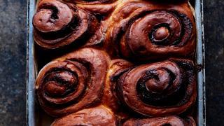 Cinnamon buns at Levan in Peckham