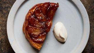 Apple tarte at Levan in Peckham