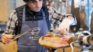 The UK Ibérico ham carving awards final