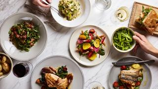 A selection of dishes including the crab salad | Rondo, Holborn