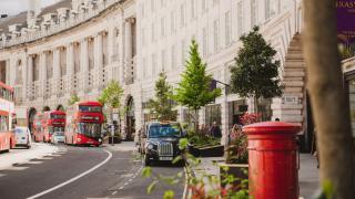 Sustainable restaurants in Regent Street & St James's | The historic curve of Regent Street