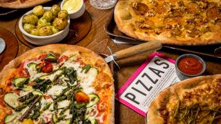 London's best pizza   a selection of Flat Earth pizza