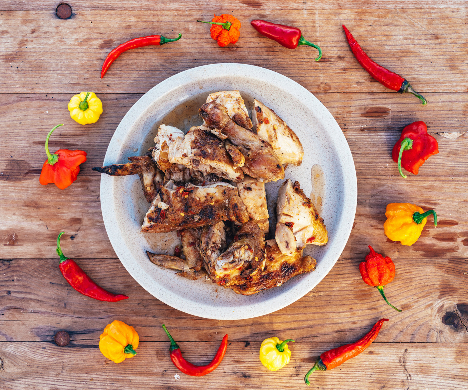 Piri piri chicken; photography by Haydon Perrior