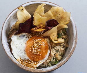 Foodism's Best of British oat risotto with parsnips three ways, the winner of the 2019 Rude Health porridge championships