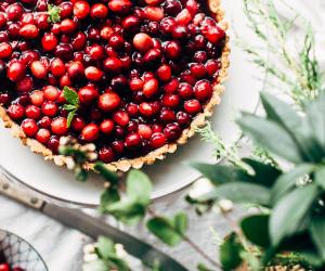 Christmas as a vegetarian: A cranberry tart