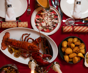 Christmas feast at Burger and Lobster