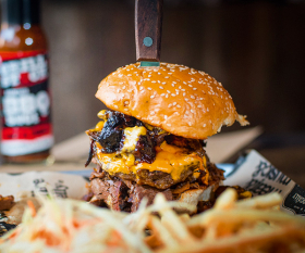 A massive burger from Grillstock