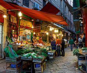 A street market in Palermo