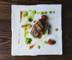 A fish dish at Wazen