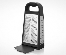 The Microplane Elite Grater comes with a removable tray
