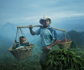 A father and son in Colombia