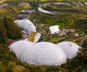 The Eden Project from above