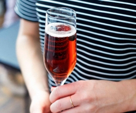 A festive champagne recipe