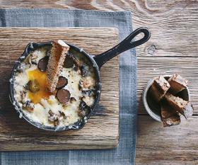 Dan Doherty's duck egg en cocotte