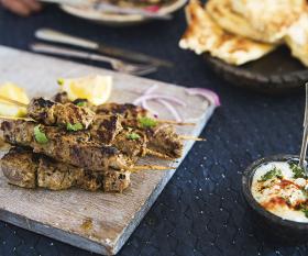 Summers Under The Tamarind Tree beef kebabs