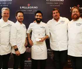 George Kataras was crowned winner of the S. Pellegrino Young Chef Awards 2016