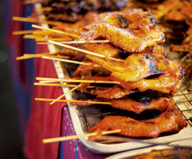 Chicken satay. Photograph from Shutterstock