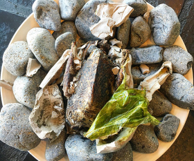 Stevie Parle's clay-baked grouse