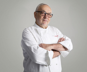 Legendary chef Pierre Koffmann. Photography by David Harrison