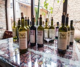 Bottles of Georgian wines