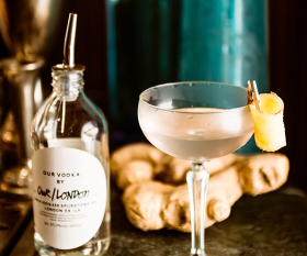 Blixen's raw ginger martini