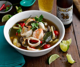 Andy Oliver's recipe for hot and sour seafood soup