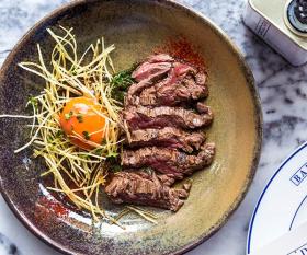 Bavette steak and confit egg at Bar Douro